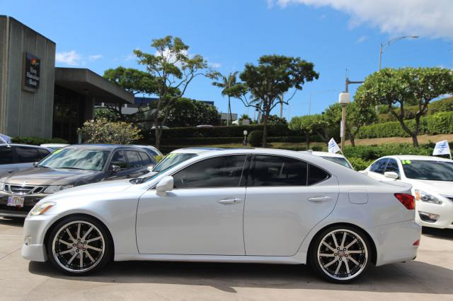 2007 LEXUS IS250 AWD PEARL WHITE DROP RIMS