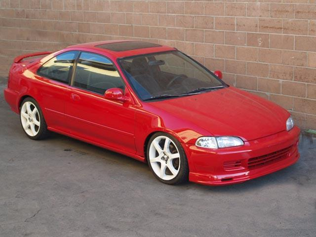 autoland 1995 honda civic ex coupe vtec new paint rims. Black Bedroom Furniture Sets. Home Design Ideas