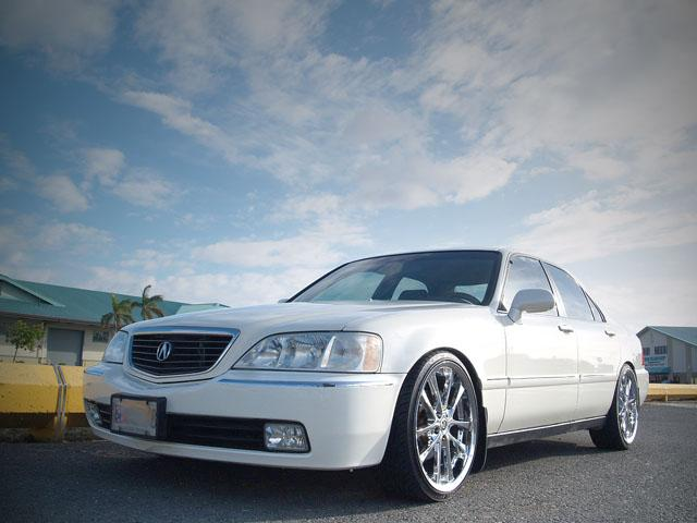 autoland 2000 acura rl 3 5 pearl white drop rims hid. Black Bedroom Furniture Sets. Home Design Ideas